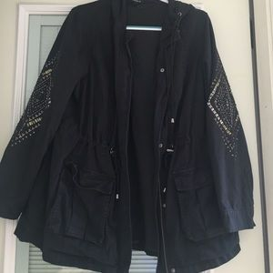 Embellished Anorak Jacket